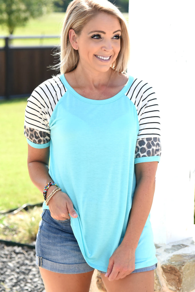 Ready For Anything Top - Turquoise