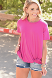 Casual Twist Top - Hot Pink