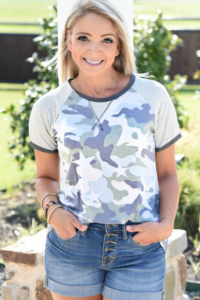Be With Me Top - Camo