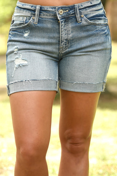 Summertime Cuffed Shorts - KanCan