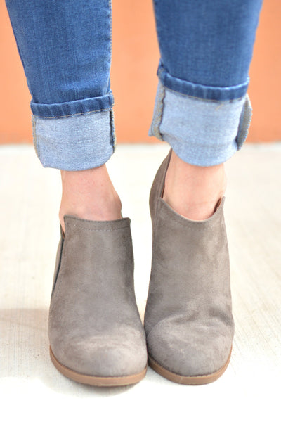 Make A Move Booties - Gray