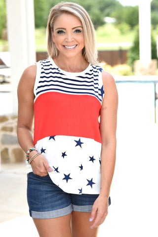 Red, White, And Blue Forever Tank