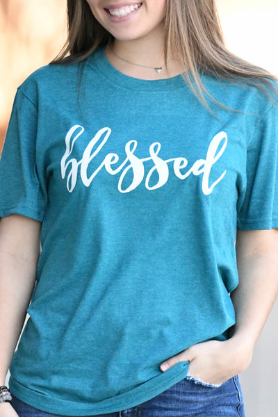 Blessed Tee - Teal