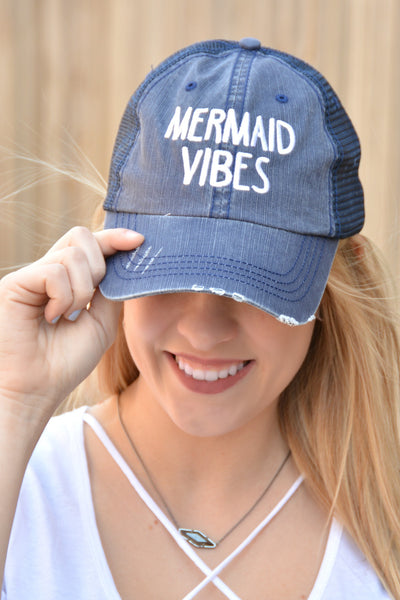 Mermaid Vibes Hat - Navy