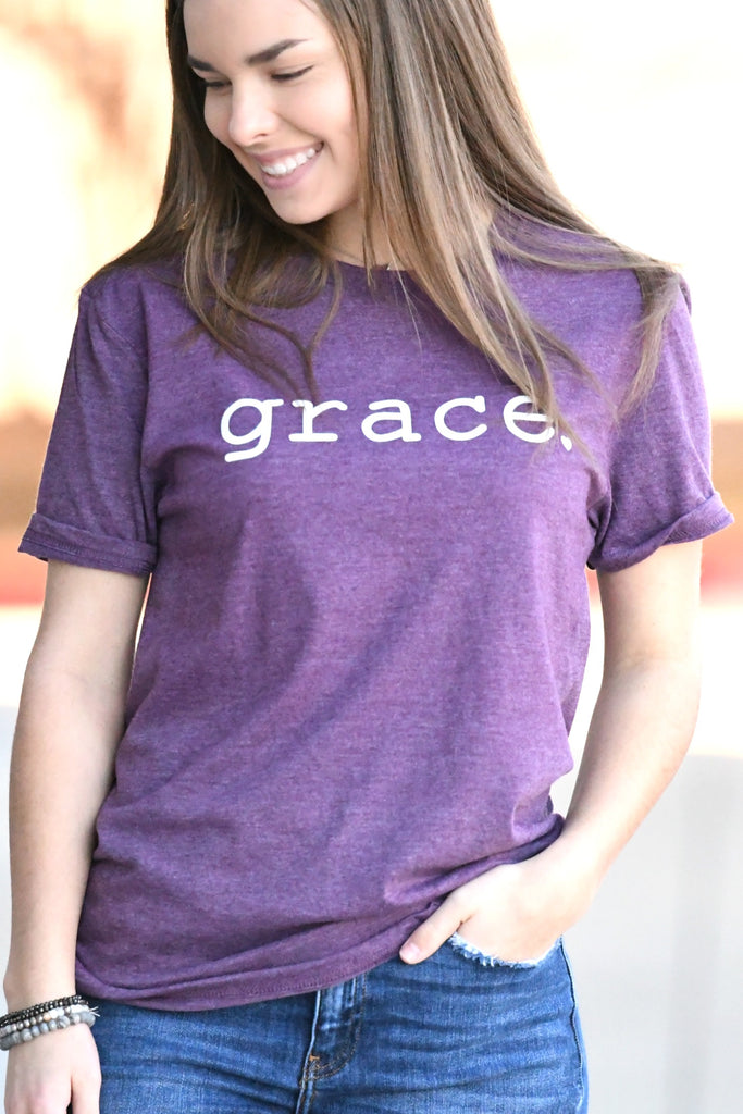 Grace Tee - Heather Plum