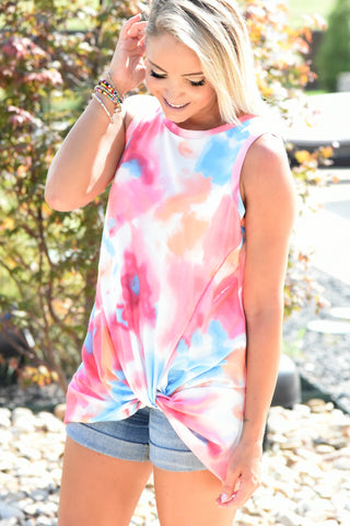 Rainbow Dreams Tank - Tie Dye