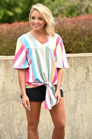 Walk With Me Stripe Top