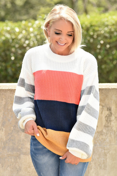 Say It All Striped Sweater