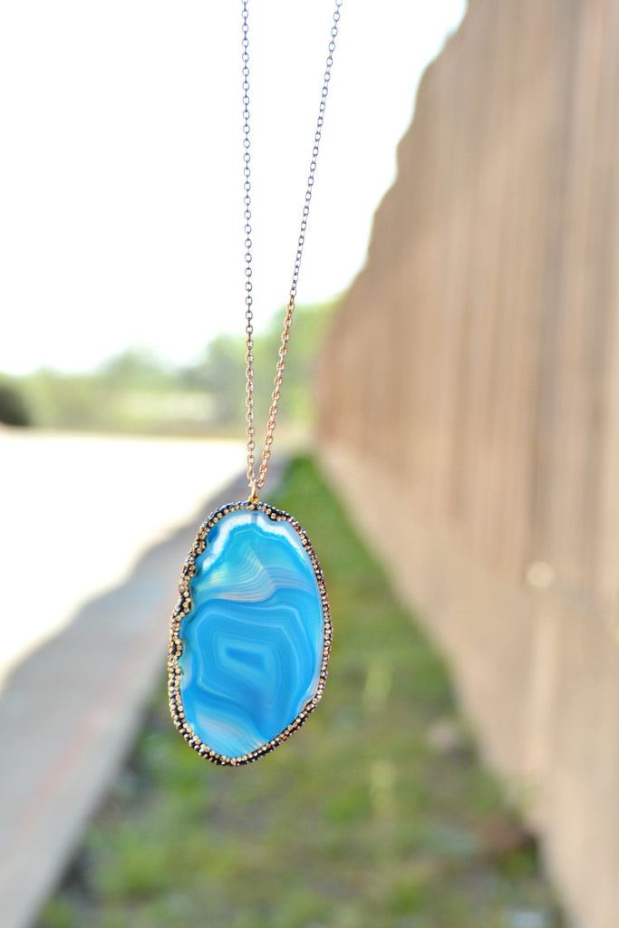 Winding Path Necklace - Blue
