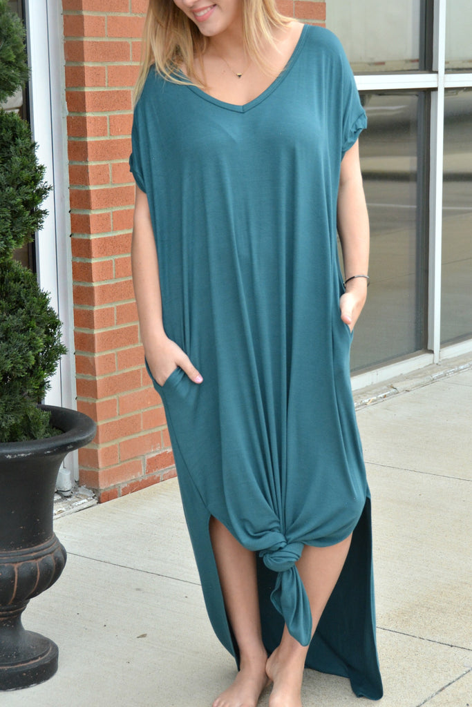Simple Beauty Dress - Teal