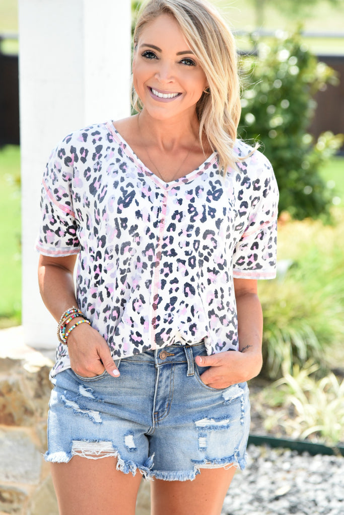 Just My Style Top - Leopard