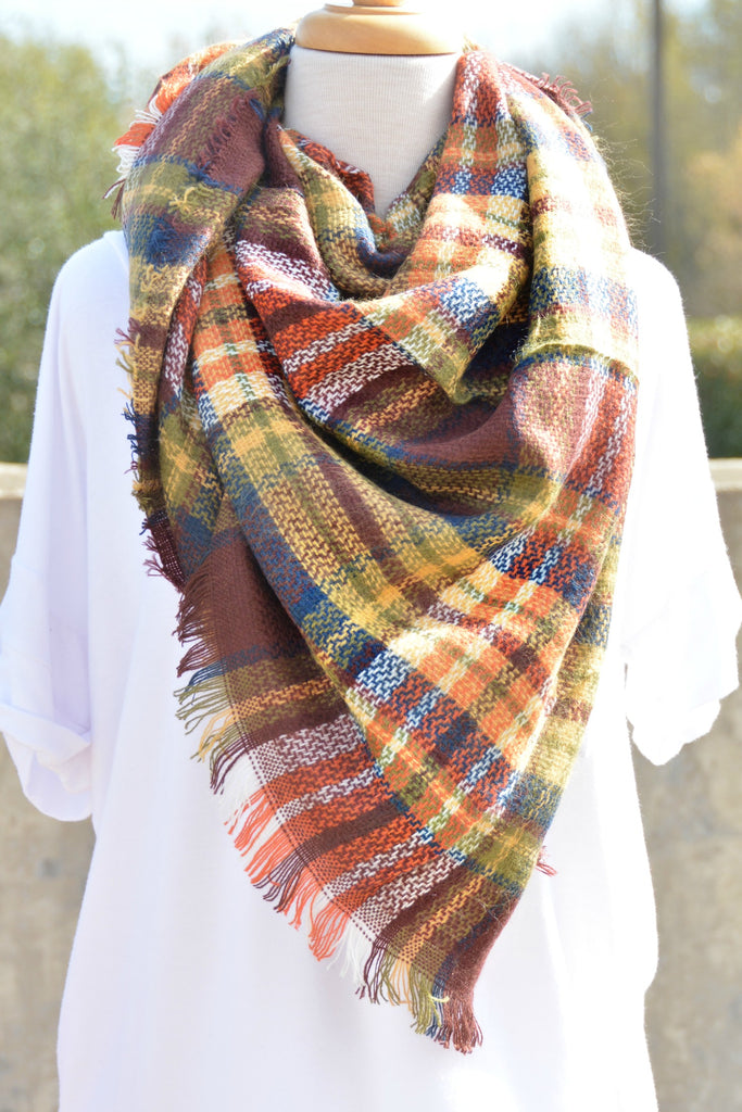 Snuggle Up Scarf - Brick