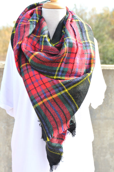 Wrapped In Love Blanket Scarf - Black