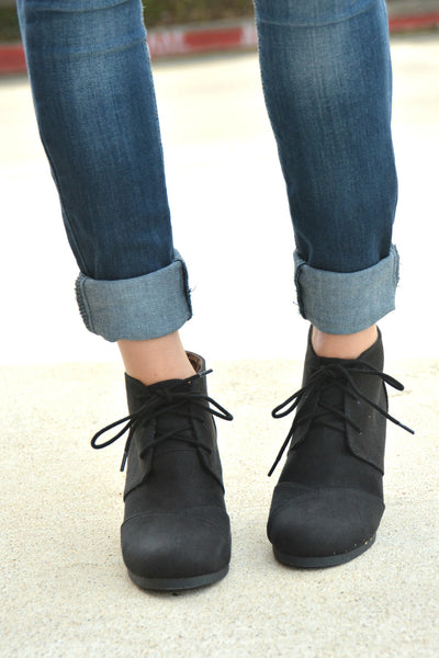 Step Aside Booties - Black
