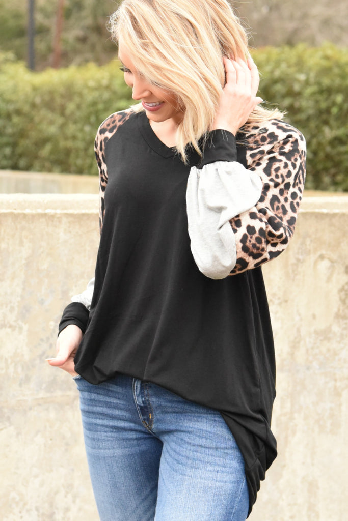 Just One Love Top - Leopard