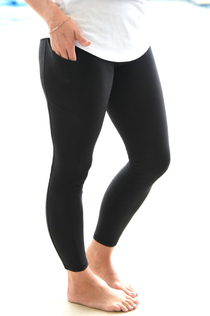 Walk This Way Leggings - Black