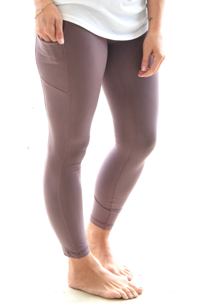 Walk This Way Leggings - Vintage Mauve