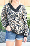Chill Of The Night Leopard Top
