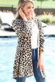 All About It Kimono - Taupe Leopard