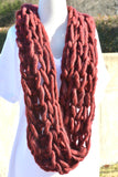 Don't Let Go Infinity Scarf - Cranberry