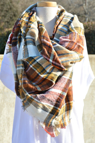 Snuggle Up Scarf - Mustard