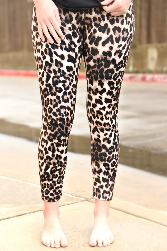 Walk This Way Leggings - Leopard