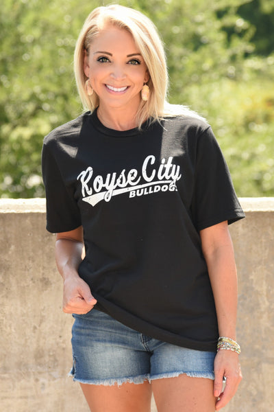 Royse City Bulldogs Tee - Black
