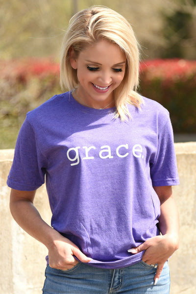 Grace Tee - Heather Purple