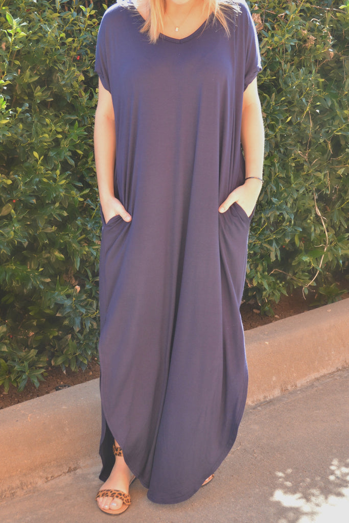 Simple Beauty Dress - Navy