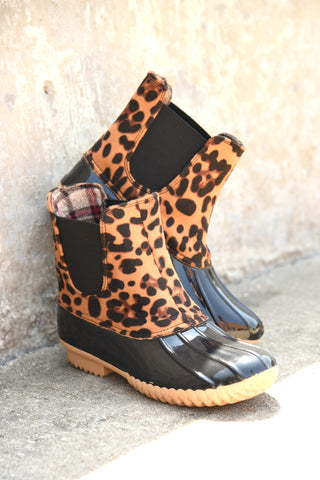 More Than Love Duck Boots - Leopard