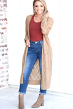 Over Time Cardigan - Tan