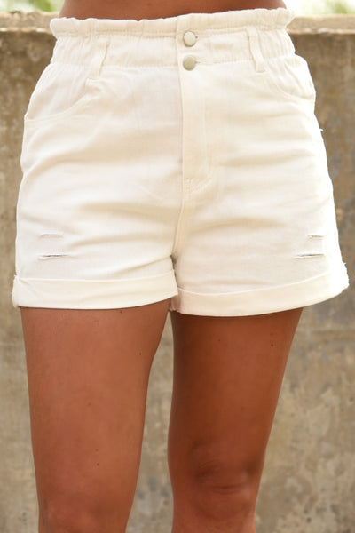 Sweet Sweet Summer Shorts - White