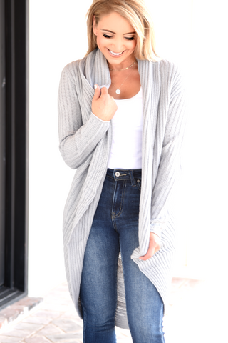 Perfect Pick Cardigan - Grey