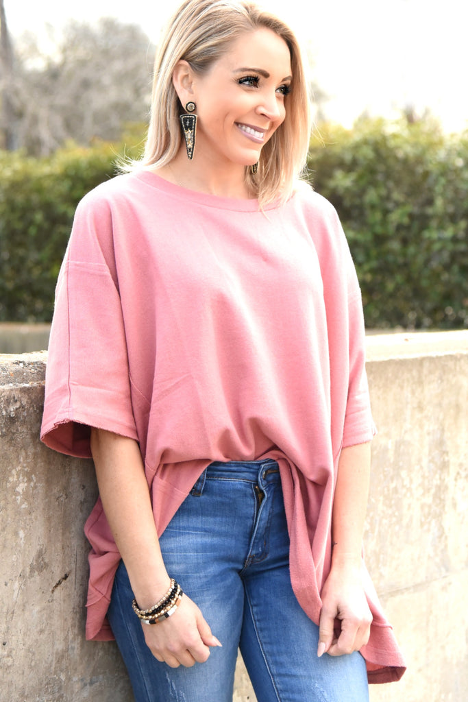 Comfy Chic Top - Rose