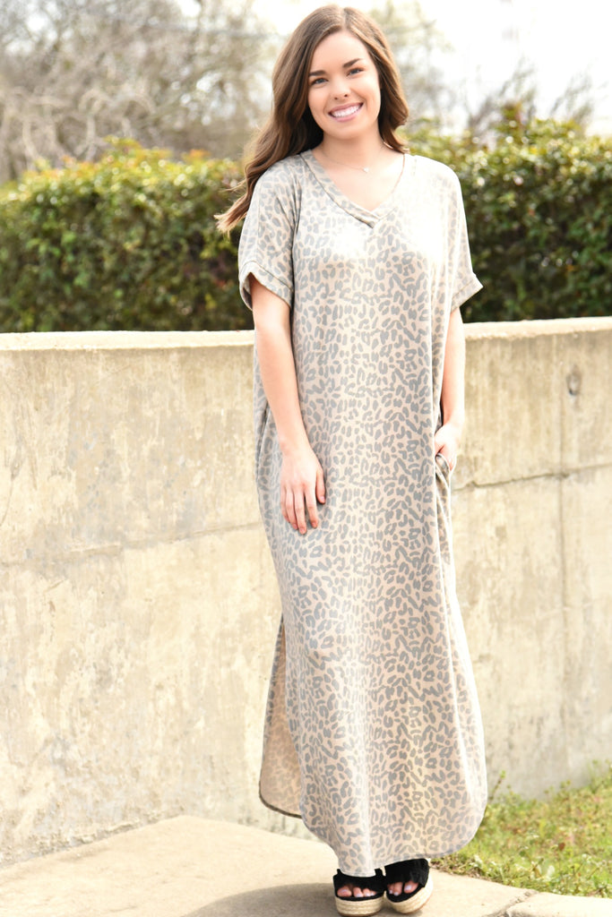 Leopard Skies Maxi Dress