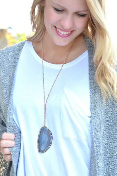 Winding Path Necklace - Gray