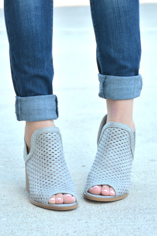 Never Let Go Booties - Lt Gray