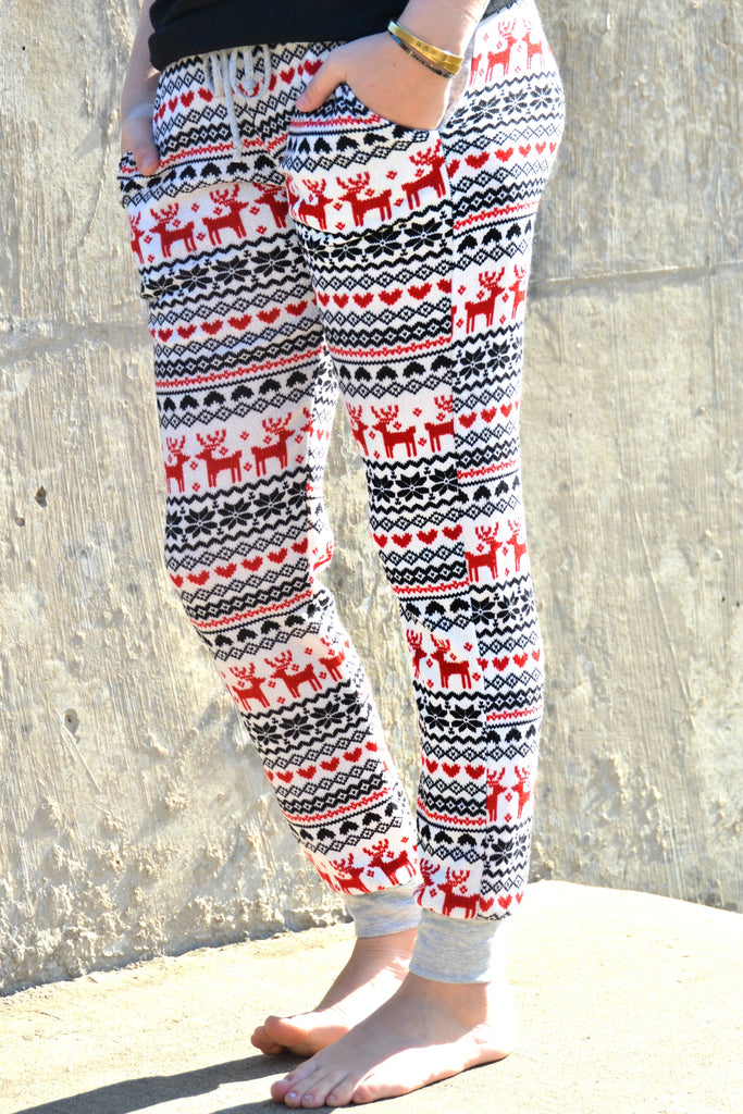Reindeer Holiday Joggers