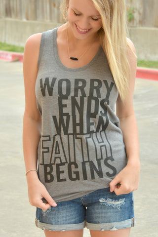 Worry Ends Tank Top