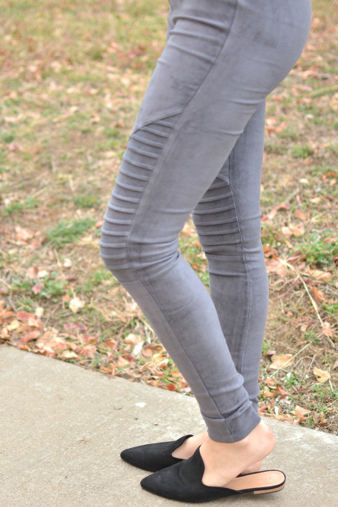 Lasting Love Jegging - Charcoal