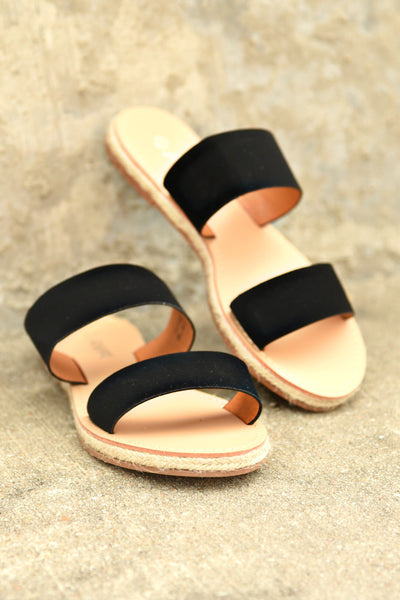 Make Your Move Sandals - Black
