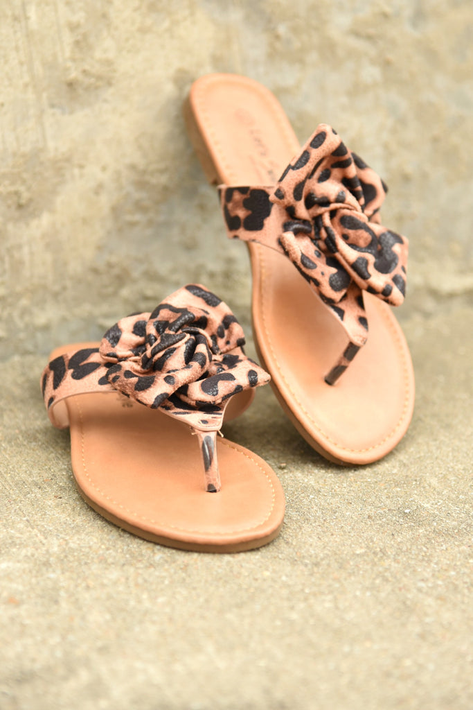 Twist Of Fate Sandals - Leopard