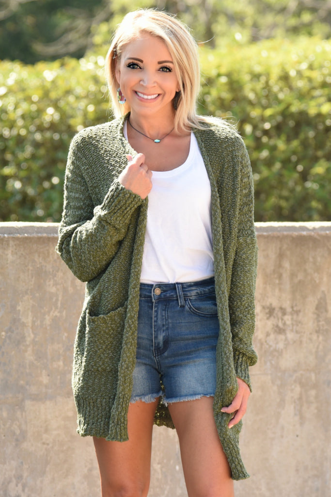 Olive You More Cardigan