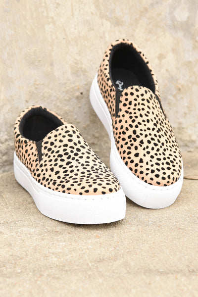 Living It Up Sneakers - Leopard