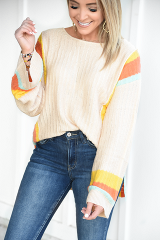 Start The Day Sweater - Apricot