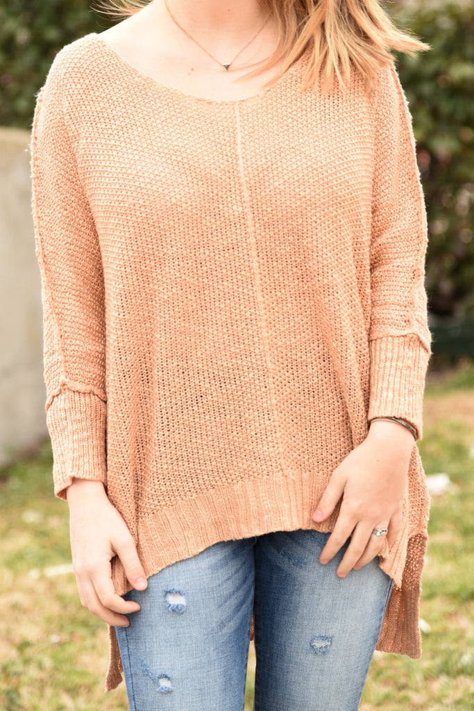 Worth The Wait Sweater - Blush