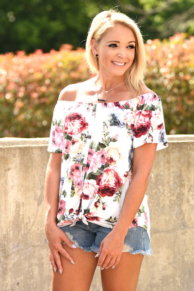 No Doubt About It Floral Top