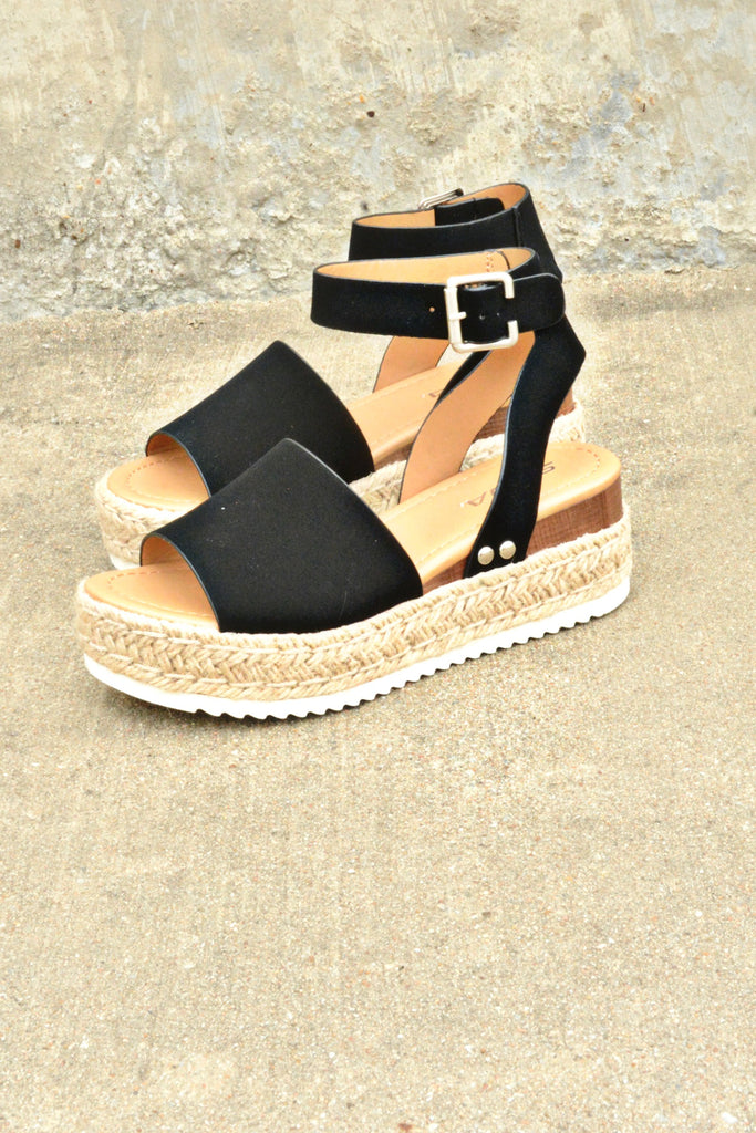 The Weekender Platforms - Black