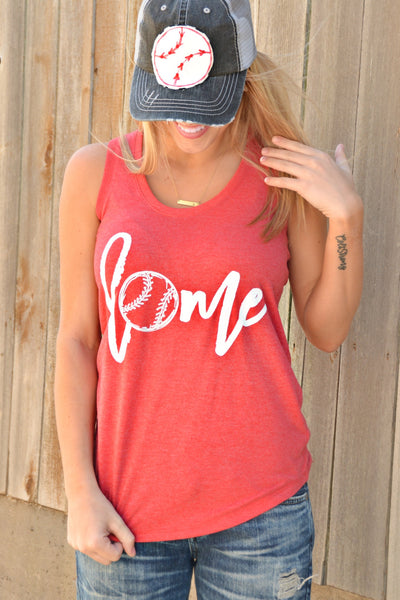 Home Tank Top - Red