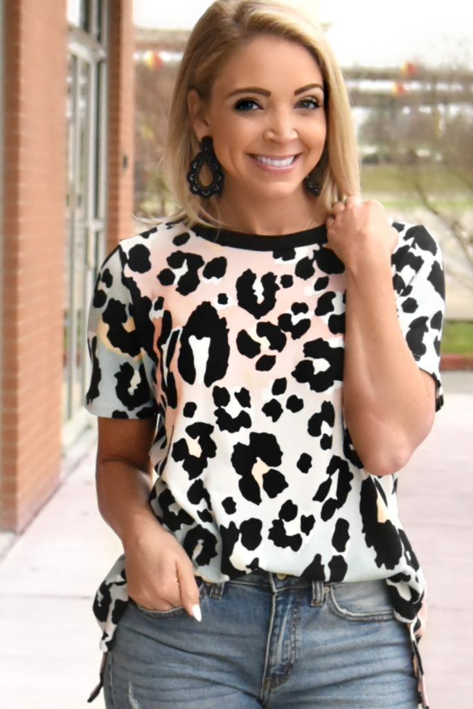 Lets Get Lost Top - Leopard